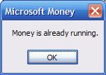 Money is already running error message