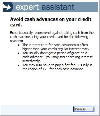 Avoid cash advances on your credit card