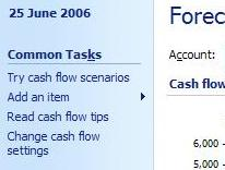 Option to try cash flow scenarios or what-ifs in Microsoft Money