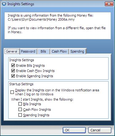 Money Insights Settings
