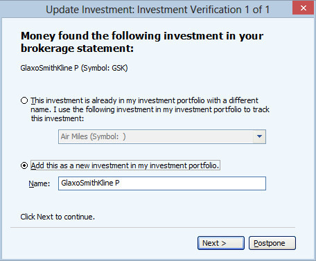 Investment Verification